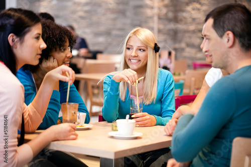 teenagers enjoy in coffee