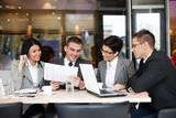 Business team  having a business meeting