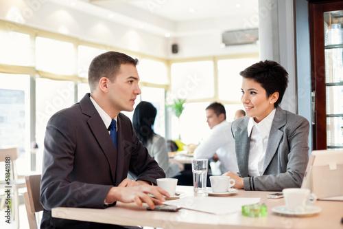 Portrait of businessmen and businesswomen