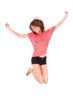 Young beautiful asian woman jumping of joy - Asian people