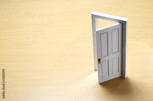 白いミニチュアの扉