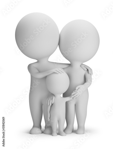 3d small people - young family