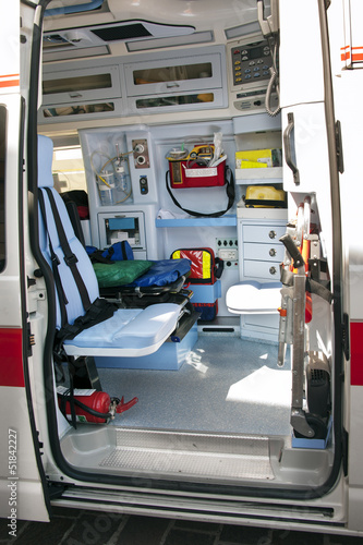 Interior ambulance