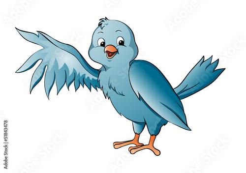 Kanarienvogel blau