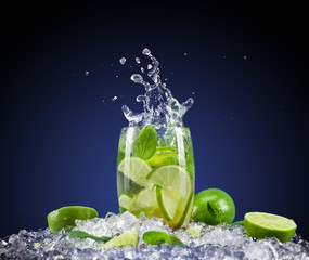 Mojito drink with splash
