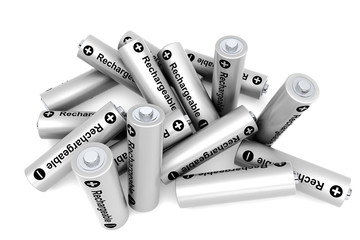 Pile of rechargeable batteries