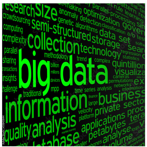 """BIG DATA"" Tag Cloud (storage information technology access)"