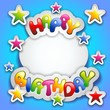 Happy Birthday Party Stickers Card-Festa Compleanno Adesivi