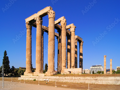 Ruins of The Temple of Olympian Zeus, Athens, Greece