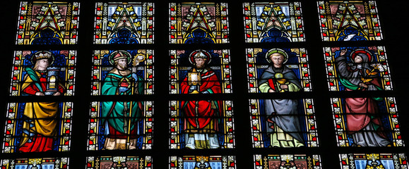 Roman catholic saints - stained glass