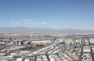 aerial views of Las Vegas, april 2013