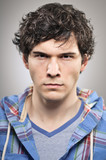 Caucasian Man Scowling Angry Portrtait poster