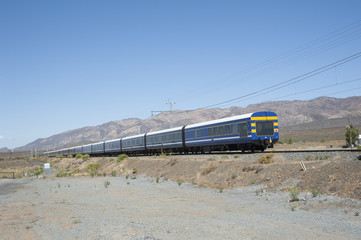 Blue Train in the Karoo region of South Africa