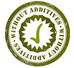 without additives stamp