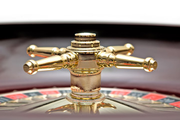 Casino roulette closeup