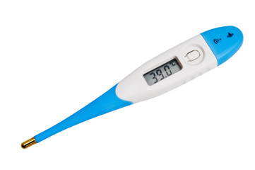 Thermometer on white background