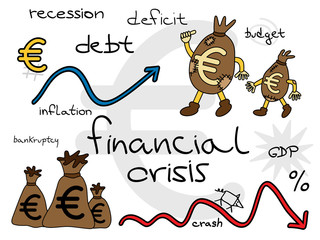 European financial crisis concept.