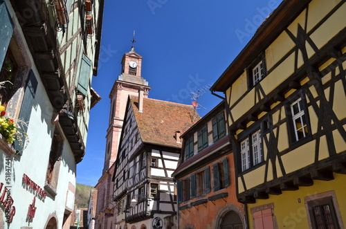 Old town of Riquewihr in Alsace, France