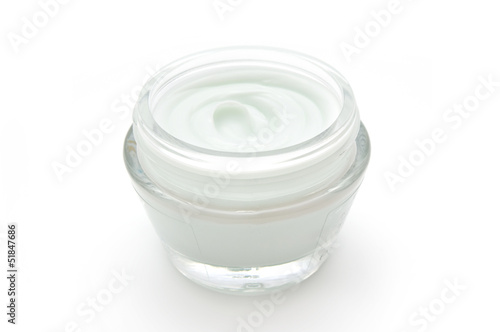 Container with cosmetic cream