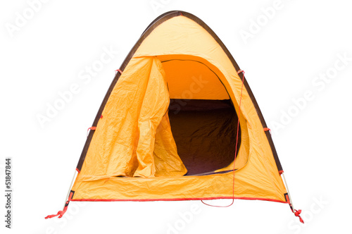 Camping tent isolated on white