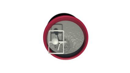 Concrete mixer top-down view on process