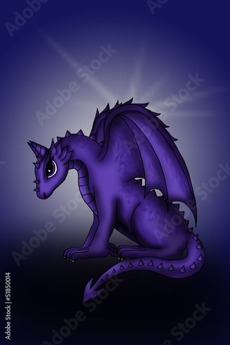 Papiers peints Dragons Dragon violet