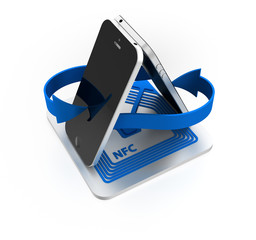 near field communication (NFC) with smartphone
