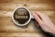 Kaffeetasse mit 100% Service
