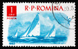 Postage stamp Romania 1962 Yachts, Water sport