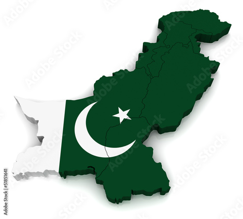 3D Map of Pakistan