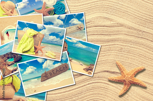 canvas print picture Vacation Postcards