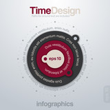 Infographics creative design template. Vector. Editable.