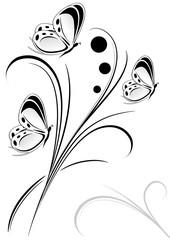 decorazione farfalline