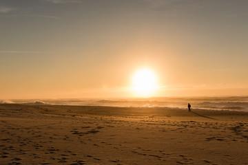 Sunset Beach Hat Man