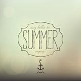 Summer, creative typographic message poster