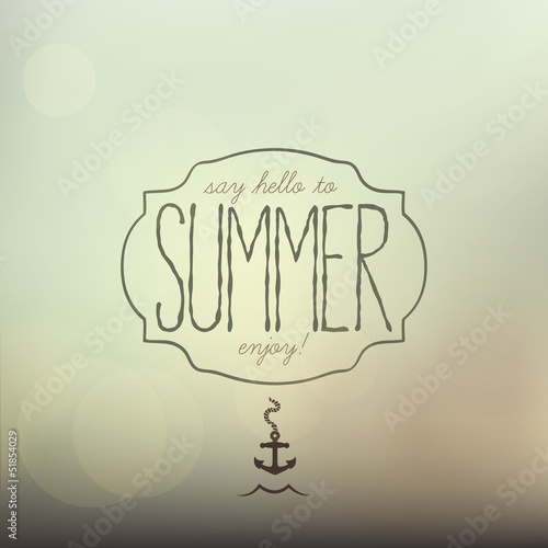 Summer, creative typographic message