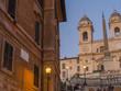 Roma, piazza di Spagna, veduta