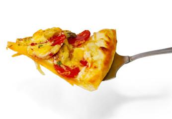 pizza tasty slice piece appetizing isolated on white background
