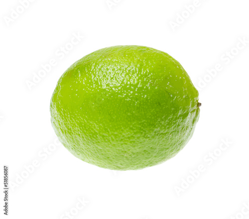 Fresh ripe lime, isolated on white background. Vector illustrati