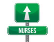 nurses road sign illustration design