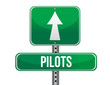 pilots road sign illustration design