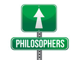 philosophers road sign illustration design