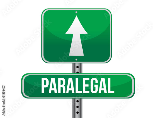 paralegal road sign illustration design