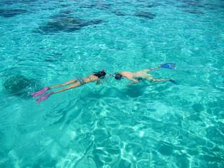 Snorkling tour, Tahiti island, French polynesia