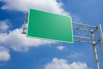 Empty 3D Highway Exit Sign