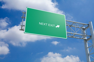 Next Exit - 3D Highway Sign