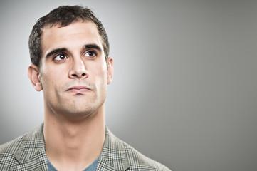 Caucasian Man Making A Decision Portrait