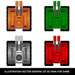 2D Tank Vector for Game Developer