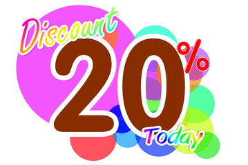 Label discount rates of 20 percent