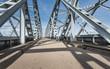 View at Dutch truss bridges